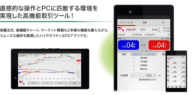 外為ジャパンのスマホアプリ